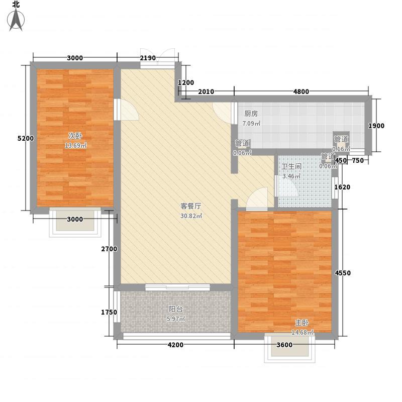 新东方花园17.00㎡E户型2室1厅1厨