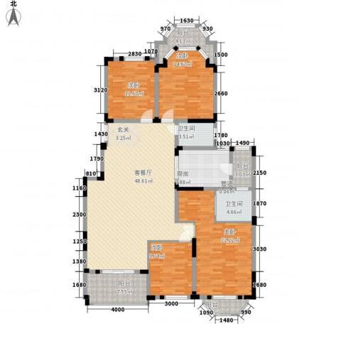 紫金英郡4室1厅2卫1厨156.00㎡户型图