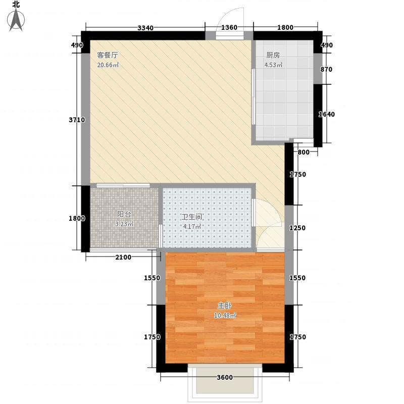 可苑新村35.00㎡户型1室