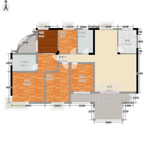 园林熙郡4室1厅2卫1厨210.00㎡户型图