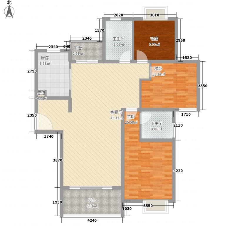 逸流公寓二期142.54㎡逸流公寓二期户型图户型C3室2厅2卫1厨户型3室2厅2卫1厨