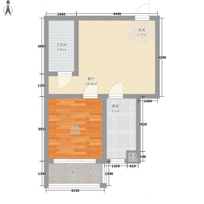 清馨苑一居室20户型1室1厅1卫1厨