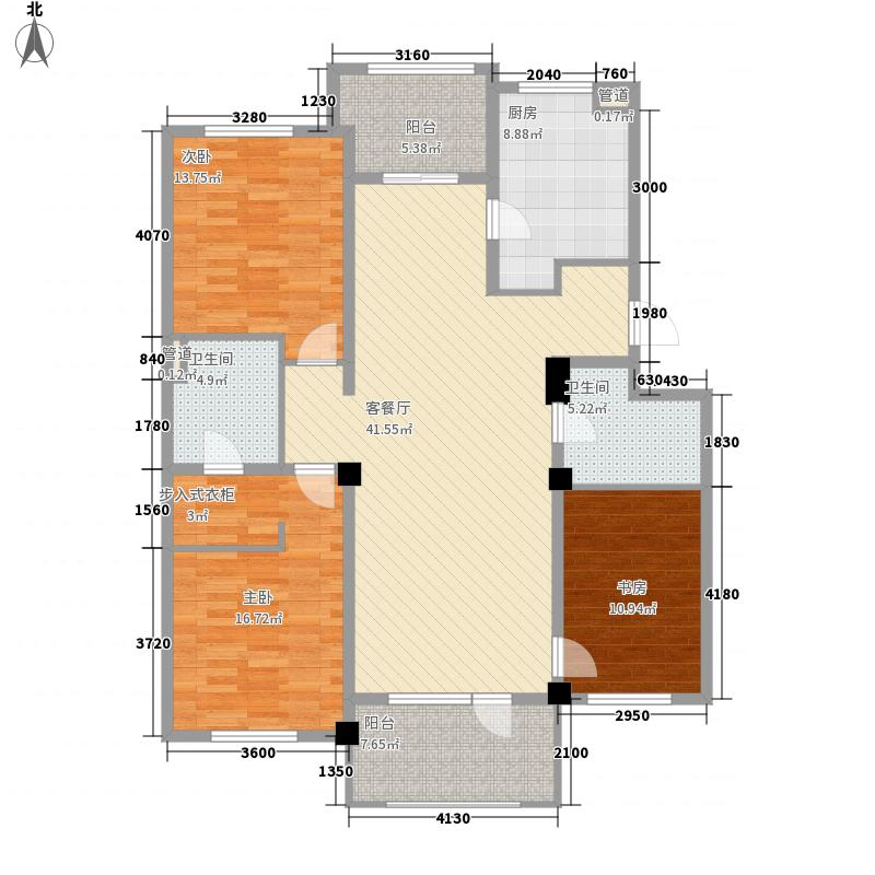 万科城二期91.00㎡万科城二期3室户型3室