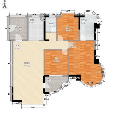 颐景园3室1厅2卫1厨168.00㎡户型图