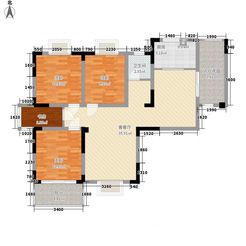 滨湖前城125.00㎡滨湖前城户型图A1户型4室2厅1卫1厨户型4室2厅1卫1厨
