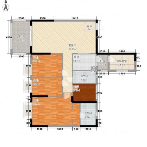 长堤1号4室1厅2卫1厨119.00㎡户型图
