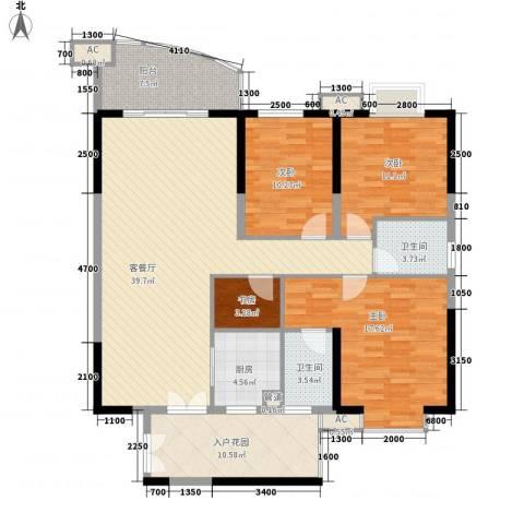 南湖中祥大厦4室1厅2卫1厨147.00㎡户型图