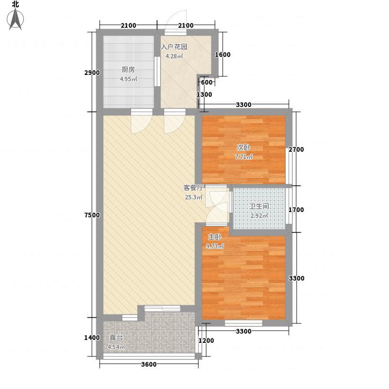 彭州海德花园1号楼B1-6标准层户型