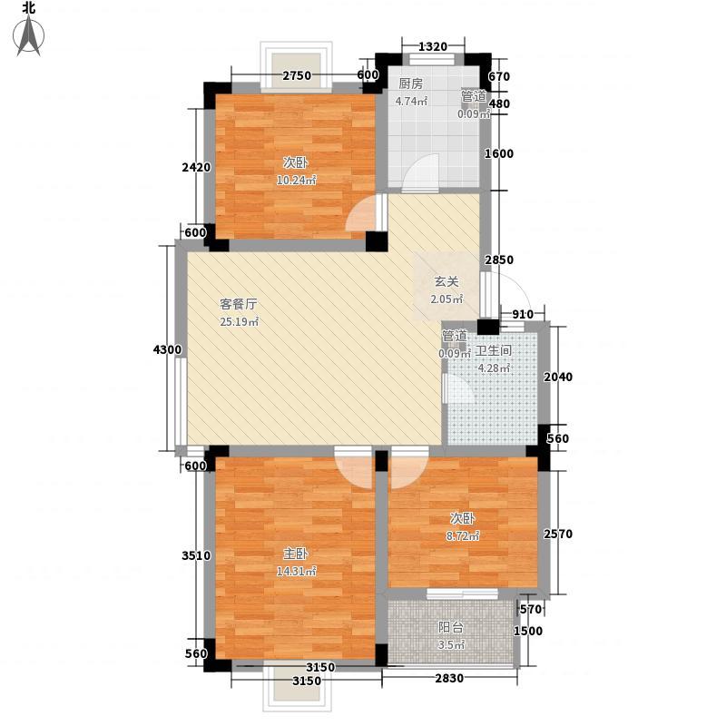 畅园新村80.00㎡畅园新村3室户型3室