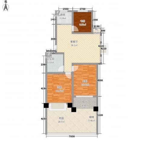 颐顺园3室1厅1卫1厨97.59㎡户型图