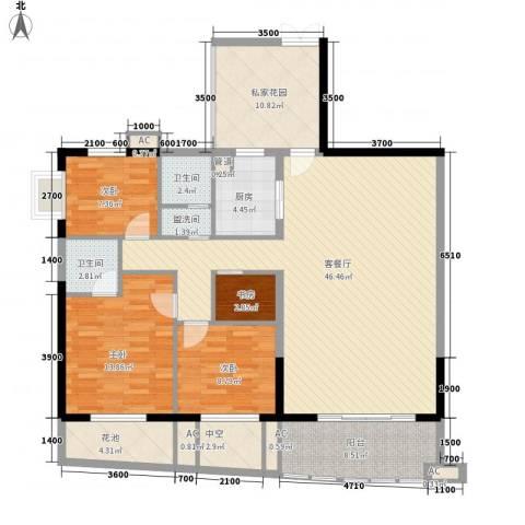 南湖中祥大厦4室1厅2卫1厨135.00㎡户型图