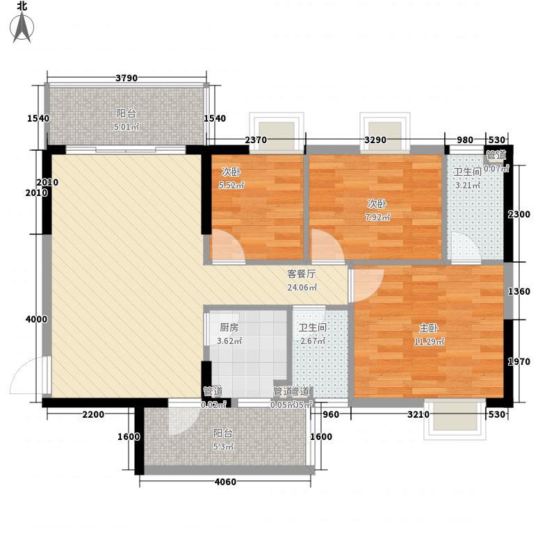 美陶花园86.00㎡美陶花园户型图12座04单位3室2厅2卫1厨户型3室2厅2卫1厨