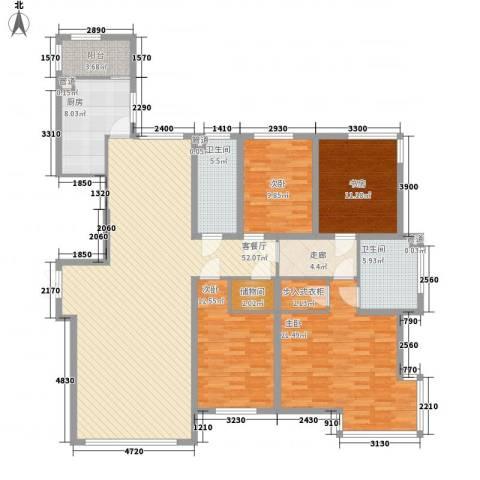 左岸慧晶峰境4室1厅2卫1厨196.00㎡户型图