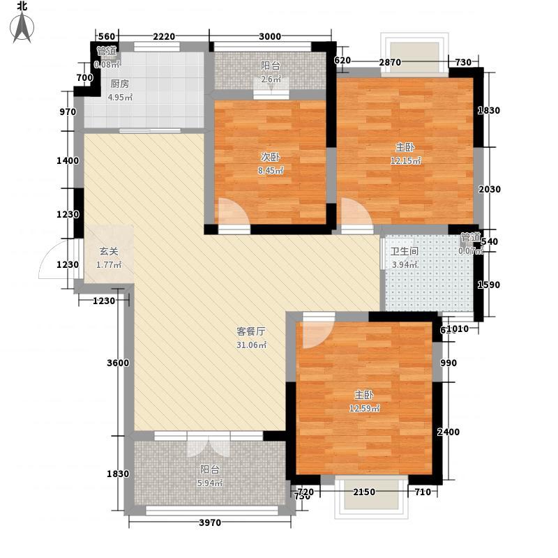 驼峰・佳苑118.00㎡一期4#6#朝南D户型3室2厅1卫1厨