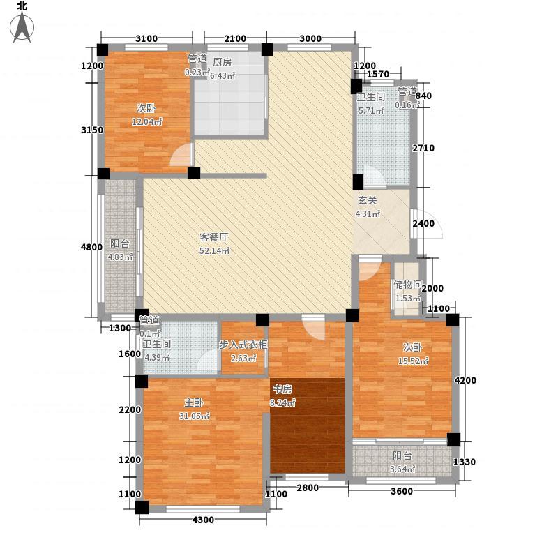 华能小区户型5室2厅2卫1厨