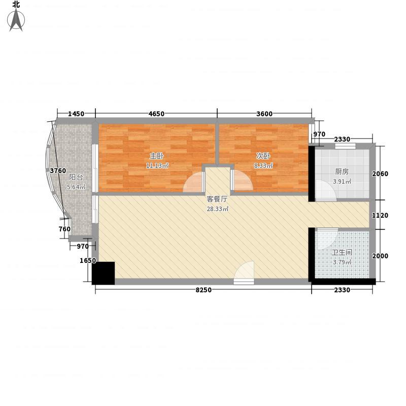 双城世纪86.25㎡双城世纪户型10室