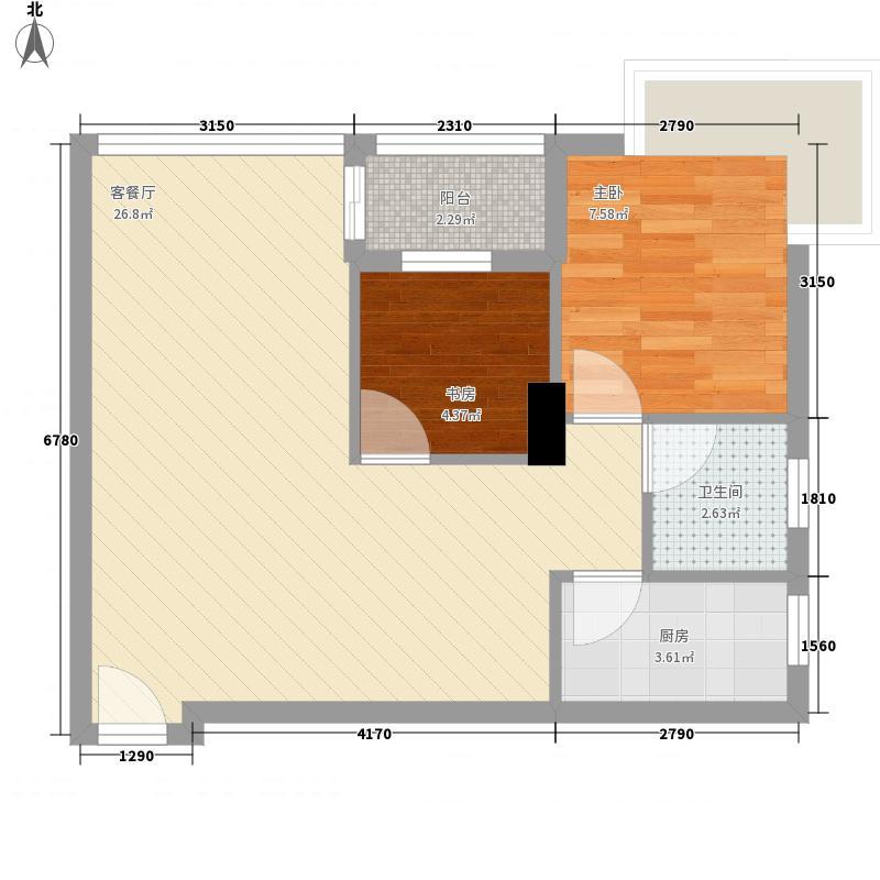 双城世纪69.52㎡双城世纪户型10室