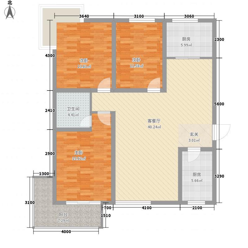 富�一号136.39㎡富�一号户型图A户型3室2厅2卫户型3室2厅2卫