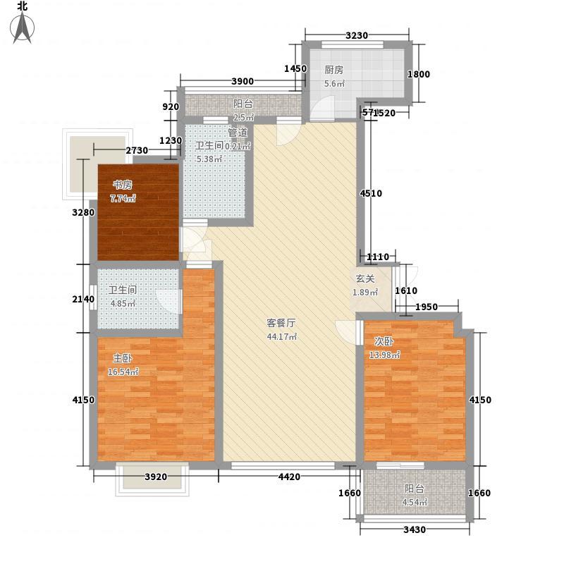 文化名居户型4室2厅2卫1厨