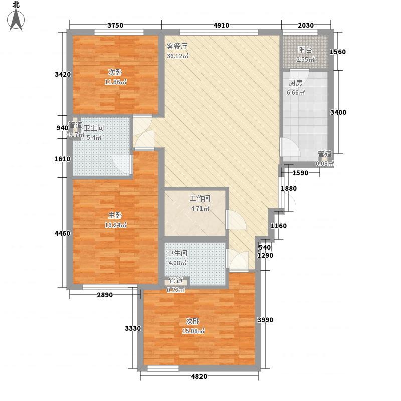 易构空间117.15㎡易构空间117.15㎡4室2厅2卫1厨户型4室2厅2卫1厨
