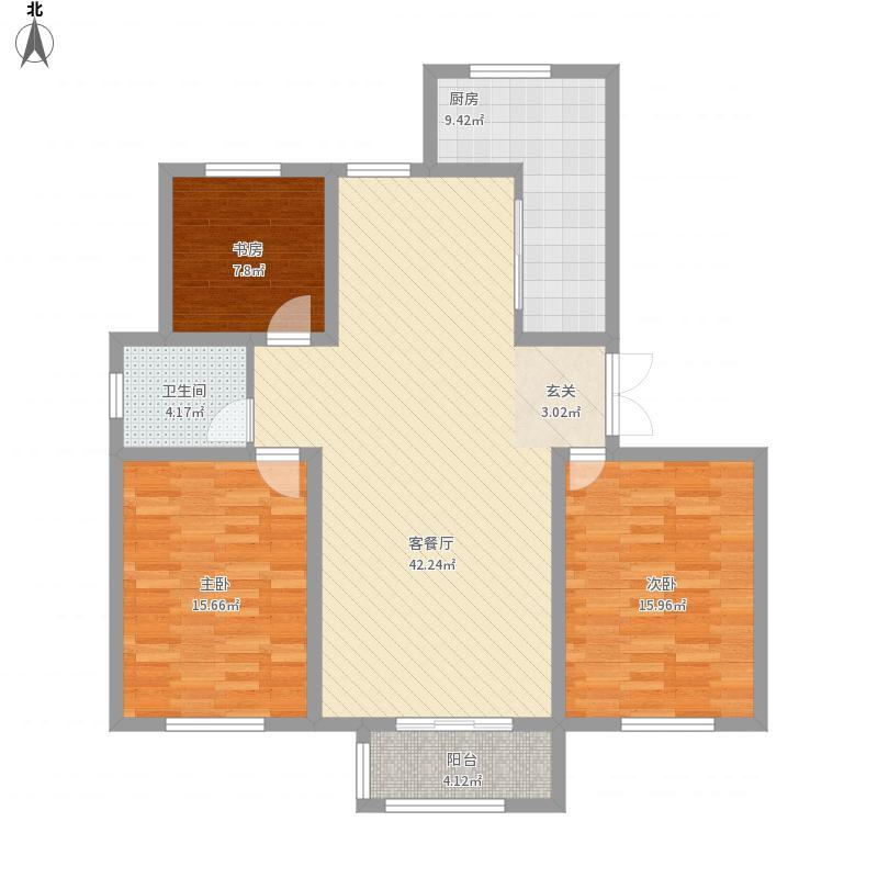鸣翠湖城楼(兴庆区)3期C户型
