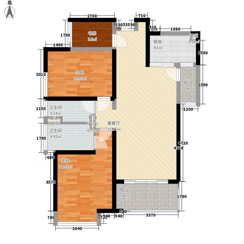 东安叁城99.18㎡东安叁城户型图C1户型图3室2厅2卫1厨户型3室2厅2卫1厨