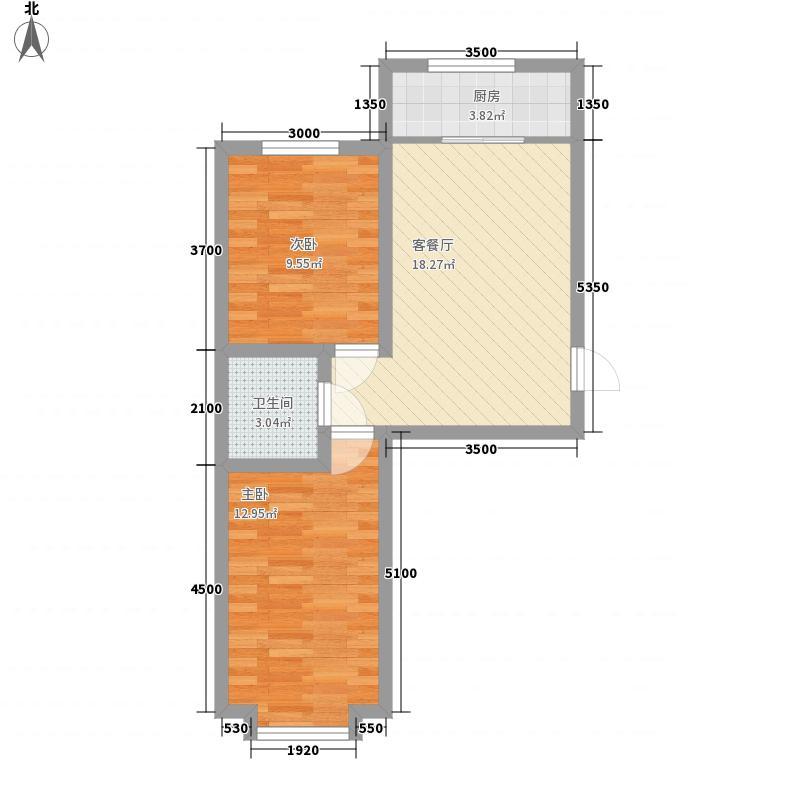 青山倾城62.00㎡青山倾城户型图户型A2室1厅1卫1厨户型2室1厅1卫1厨