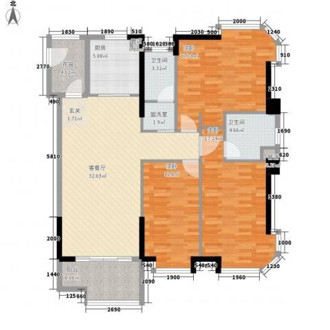 颐景园3室1厅2卫1厨149.00㎡户型图