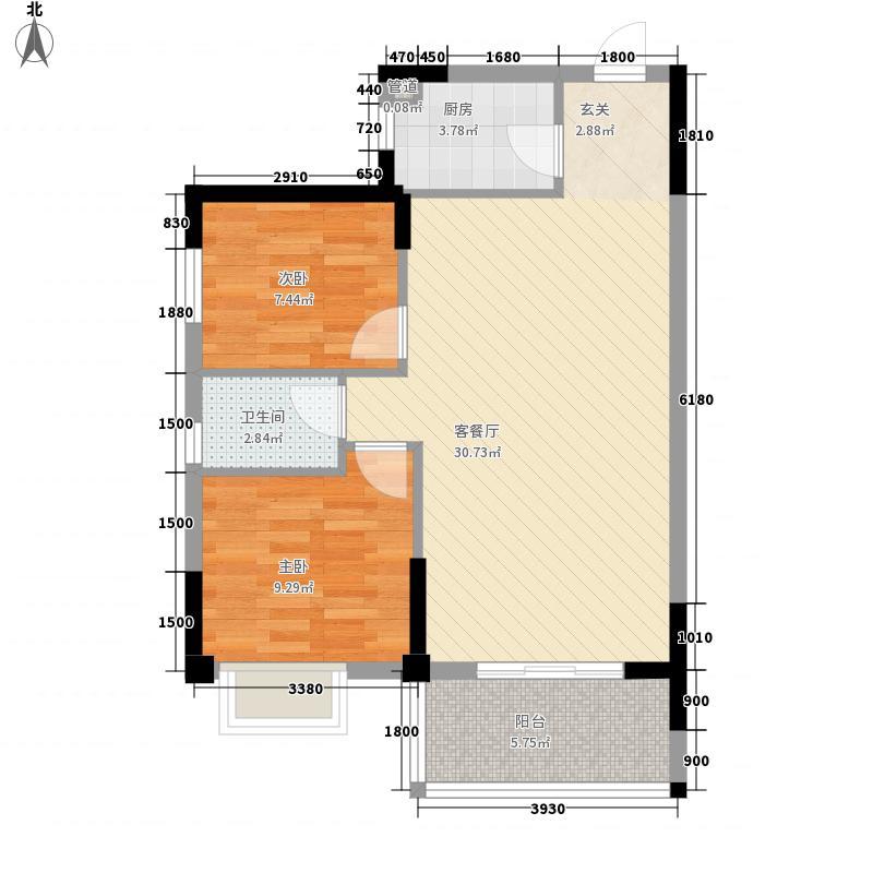 大儒世家绿园2#楼D1户型3室2厅2卫1厨
