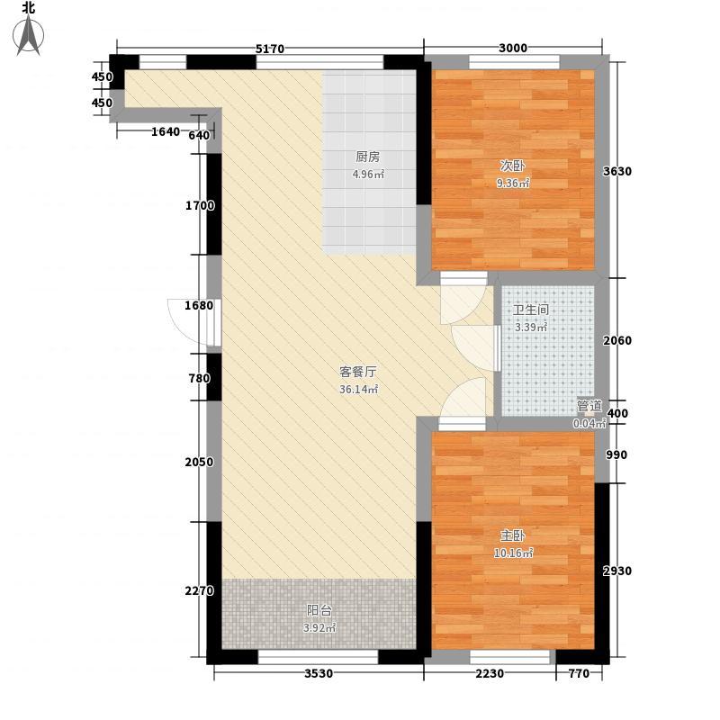 �邦华福小高层6#2单元标准层G2户型