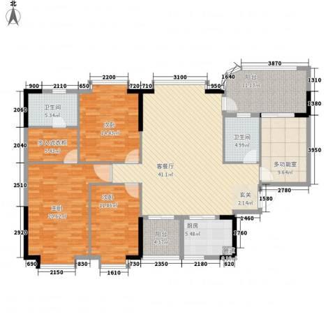 颐景园3室1厅2卫1厨187.00㎡户型图