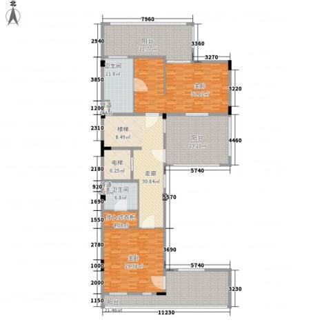 西上海君廷2室0厅2卫0厨270.00㎡户型图