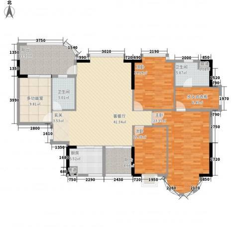 颐景园3室1厅2卫1厨192.00㎡户型图