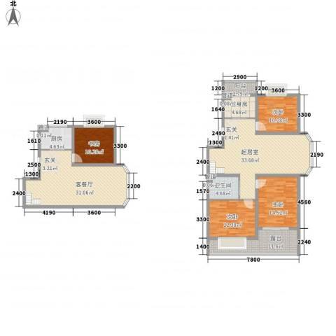 澜山溪谷4室1厅1卫1厨181.00㎡户型图