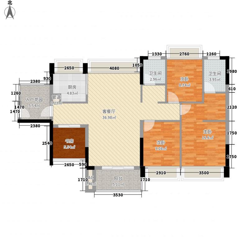 中熙松湖国际131.00㎡中熙松湖国际户型图英伦经典4室2厅2卫1厨户型4室2厅2卫1厨