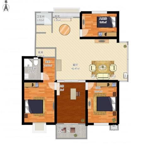 古塘丽景4室1厅2卫1厨151.00㎡户型图