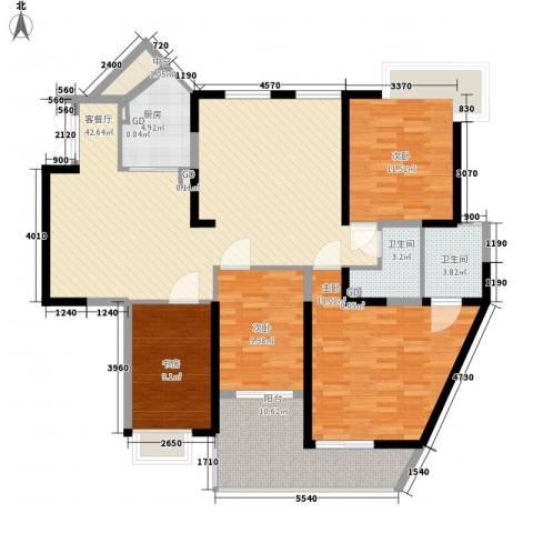 泰禾红树林4室1厅2卫1厨163.00㎡户型图
