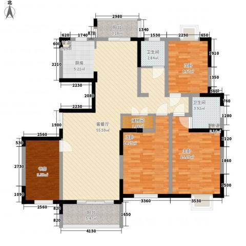 国泰新都4室1厅2卫0厨167.00㎡户型图