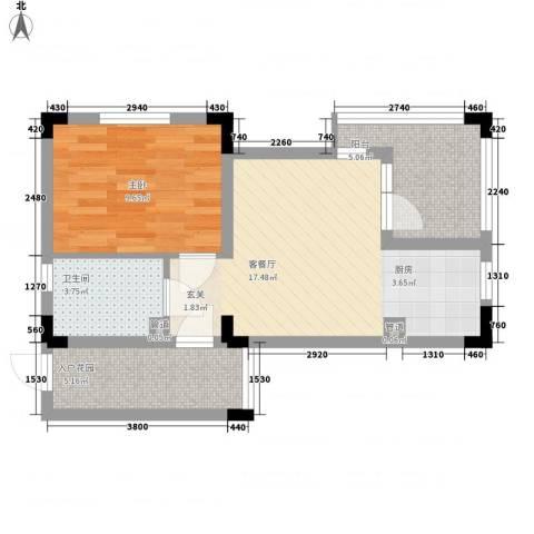 黄山纳尼亚小镇1室1厅1卫0厨58.00㎡户型图