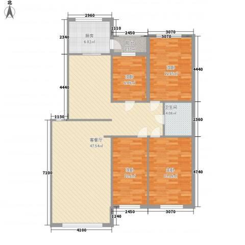 新嘉坡城4室1厅1卫1厨142.00㎡户型图