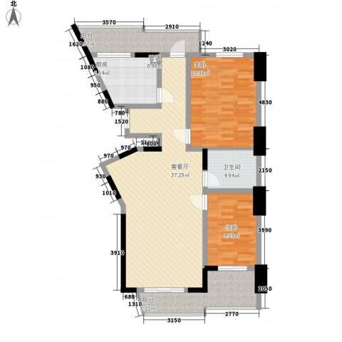 天赐园(和平区)2室1厅1卫1厨121.00㎡户型图
