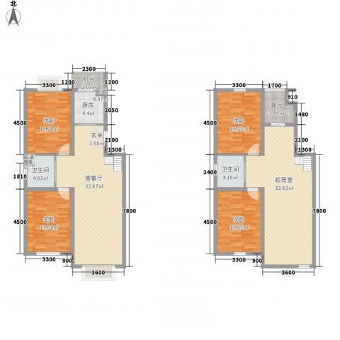 澜山溪谷4室1厅2卫1厨137.00㎡户型图