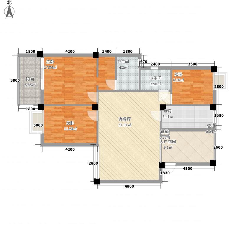 融信第一城融信第一城户型图3室1厅2卫1厨户型10室
