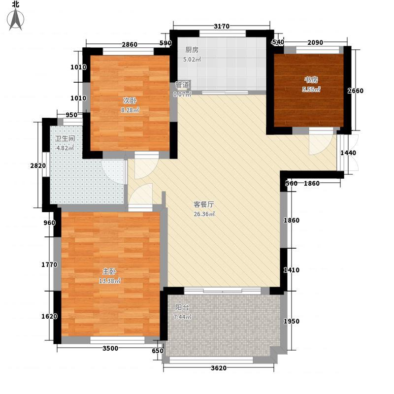 御湖观邸103.00㎡御湖观邸户型图5#103平米户型3室2厅1卫1厨户型3室2厅1卫1厨