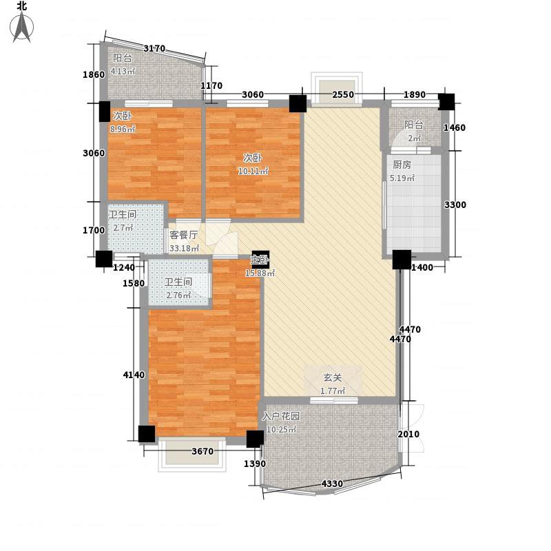 建昌99度城E户型3室2厅2卫1厨