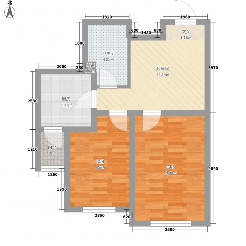 雅馨苑69.00㎡雅馨苑户型图B1户型2室1厅1卫户型2室1厅1卫