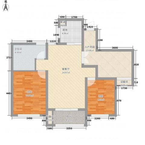 西双版纳滨江果园避寒度假山庄2室1厅1卫1厨114.00㎡户型图