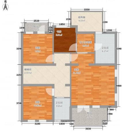 中新漫城4室0厅2卫0厨128.00㎡户型图