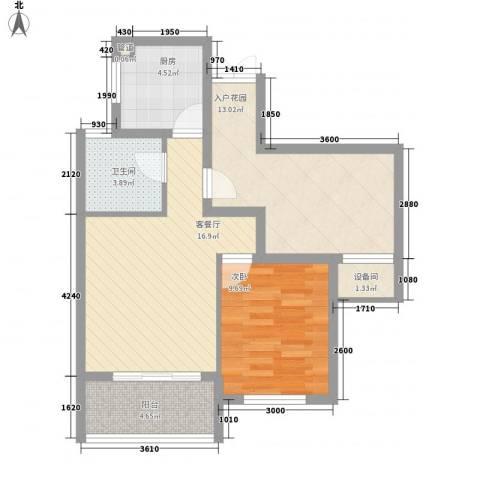 西双版纳滨江果园避寒度假山庄1室1厅1卫1厨79.00㎡户型图