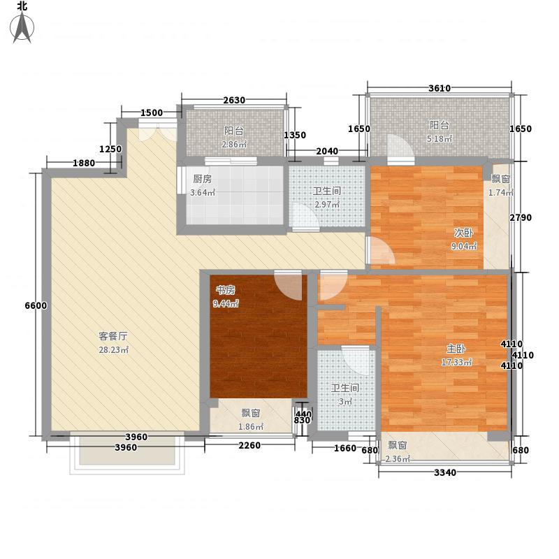 香珠花园116.00㎡香珠花园3室户型3室